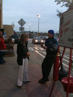 Buy someone ringing bells for the Salvation Army hot chocolate :)
