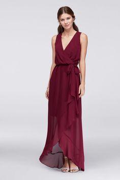 9a4e369f5725 Faux Wrap Chiffon Bridesmaid Dress Style DBWKO1AMR Davids Bridal Sale, Davids  Bridal Bridesmaid Dresses,