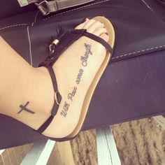 Quotes Tattoo on Foot for Girls