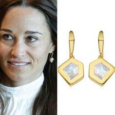 Pippa Middleton Style, Wire Earrings, Kite, Wire Wrapped Earrings