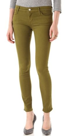 olive stretch jeans