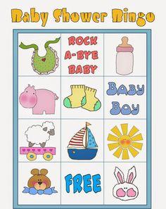 Bingo para Baby Shower para Imprimir Gratis. Bingo Baby Shower, Baby Shower Printables, Shower Party, Free Printables, Diy Baby Shower Decorations, Winnie The Pooh, Frozen Bebe, Rock A Bye Baby, Baby Shawer