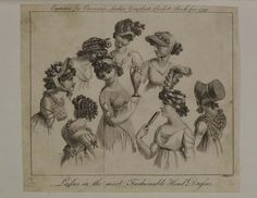 Museum of London | ENGRAVING Ladies in the most Fashionable Head Dresses Production Date: 1799 ID no: 2002.139/1081