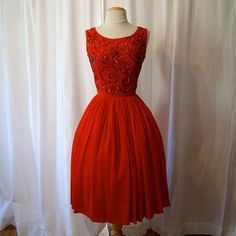 Love the rich red!  Add a red crinolin and  watch out!