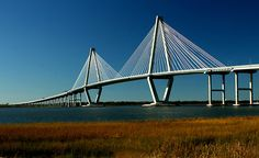 Also known as the Cooper River Bridge, this bridge was opened in 2005 and serves as the passageway from Charleston to Mount Pleasant. .... Walk the pedestrian bridge.