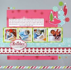 Holidazzle Gingerbread Scrapbook Layout Project Idea from Creative Memories