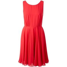 French Connection Winter Spells Flare Dress ($72) ❤ liked on Polyvore featuring dresses, red skater skirt, red flared skirt, circle skirt, skater skirt and flared skirt