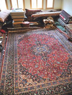 Vintage 9.9 x 13.4 Hand-Knotted Persian Rug  by DamavandTradingCo