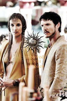 Oberyn Martell and Ellaria Sand ~ Game of Thrones Fan Art Game of Thrones #GoT #fashion