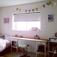 子供部屋/seria/IKEA/セリア/机のインテリア実例 - 2015-09-15 17:08:08 | RoomClip(ルームクリップ)