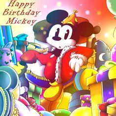 Happy Birthday Mickey by chiby-furry on DeviantArt Mickey Mouse And Friends, Disney Mickey Mouse, Disney Characters, Fictional Characters, Happy Birthday, Deviantart, Happy Brithday, Urari La Multi Ani, Happy Birthday Funny