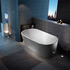 Badkar Bathlife Ideal Fristående Rund Vit - Fristående badkar - Badkar