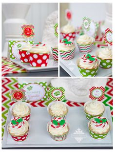 Lovely Christmas Party Cupcakes  #christmas #cupcakes