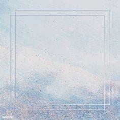 Square frame on light blue paint textured background vector | premium image by rawpixel.com / NingZk V. Flower Background Wallpaper, Pastel Background, Textured Background, Vector Background, Pastel Pink Wallpaper, Colorful Wallpaper, Abstract Backgrounds, Wallpaper Backgrounds, Light Blue Paints