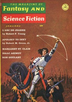 scificovers: The Magazine of Fantasy and Science Fiction January 1966. Cover by Jack Gaughan.