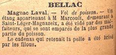 Vol de Poisson !  Gazette du Centre 1893 - Bfm Limoges