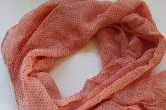 Peach chiffon scarf from Mayil summer scarves - light weight scarves - belt - chemo head scarf - hat accessory - unique colorful - handmade