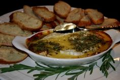 French Themed Dinner Party ~ Baked Camembert with Herbs de Provence and Honey