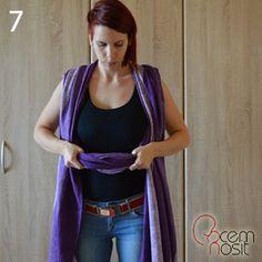FWCC: Látku na pravom ramene opäť zriaste. Dostanete kapsu, kam vložíte dieťatko.
