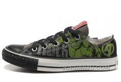 67a1978faa5f Shop Hulk Shoes CONVERSE Black Green The Avengers Chucks Taylor Tops  Sneakers Authentic black