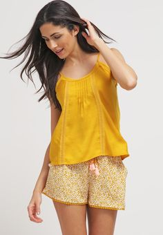 Etam MOLY - Haut de pyjama - mustard ochre - ZALANDO.FR