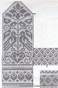 mitten pattern from burda magazine (liveinternet. Knitted Mittens Pattern, Knit Mittens, Knitted Gloves, Knitting Socks, Baby Knitting, Knitting Charts, Knitting Stitches, Knitting Designs, Knitting Projects