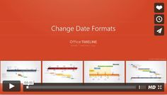This video will demonstrate how to make your project plan standout by styling the fonts. The video will show you steps for doing this with Office Timeline software or how to do it manually using PowerPoint controls. Timeline Maker, Create A Timeline, Your Timeline, Microsoft Project, Microsoft Excel, Office Timeline, Gantt Chart Templates, Distinguish Between