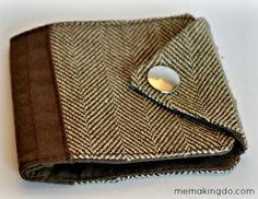 Handmade wallet to remember a loved one