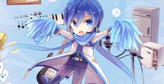 I'm a still being an cheerleader Vocaloid Kaito, Kaito Shion, Mikuo, Kawaii, My Favorite Image, Mystic Messenger, Anime Guys, Cute Pictures, Chibi