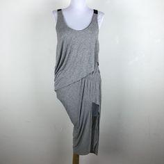Rag & Bone Dress Size Small S Gray Black Sleeveless Draped Layered  #ragbone