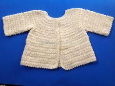 Marumin Crochet: Cardigan fucsia y saquito amarillo / Cardigan in Fucsia and Yellow sacque