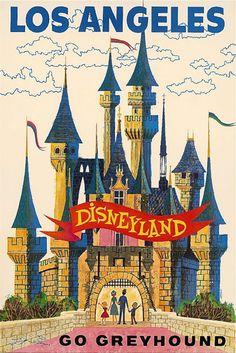 Greyhound travel poster, c.1960