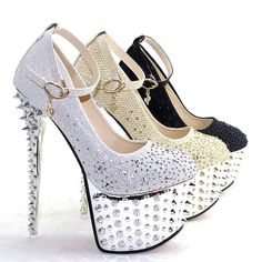 1c609d6f7d9 Lace glitter wedding high heel shoes for you!welcome retail and wholesale
