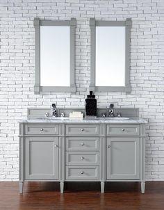 "Brittany 60"" Urban Gray Bathroom Vanity James Martin"