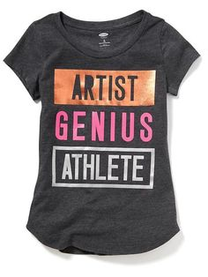 d353392ac93a Graphic Crew-Neck Tee for Girls   Old Navy Cool Graphic Tees, Maternity Wear