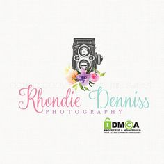 premade vintage camera logo design by stylemesweetdesign on Etsy