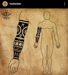 Viking Rune Tattoo, Norse Tattoo, Celtic Tattoos, Viking Tattoos, Armor Tattoo, Warrior Tattoos, Thai Tattoo, Maori Tattoos, Samoan Tattoo