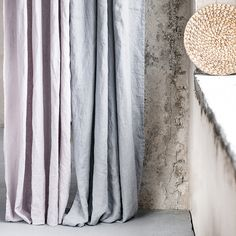 Washed and handmade light elephant grey linen curtains for relaxed look.  ++++++++++++++++++++++++++++++++++++++++++++++++++++++++++++++++++  LOOK  Washed, soft and has naturally born wrinkles after washing process. The linen is of medium weight so it is not sheer though it is not blackout and lets the lightening inside.  We always suggest our customers to combine matching colors of panels for the best look. Light elephant grey linen panel looks best with dark grey/graphite or ashes of r...