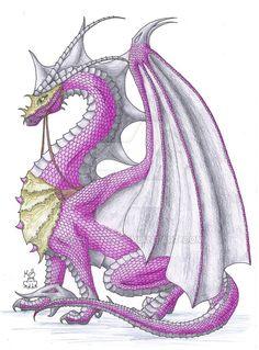 Bright Grey Dragon by Scellanis.deviantart.com on @DeviantArt