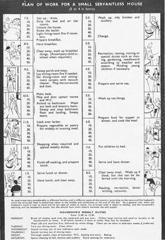 old fashioned housekeeping schedule