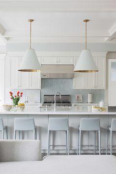 Dreamy White and Blue Kitchens via Kim Wiederholt Design Blog
