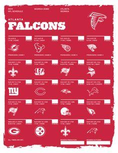 Atlanta Falcons 2014 NFL Schedule