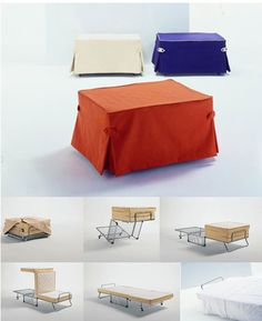 Fold away bed ! <3