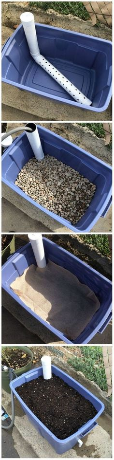 DIY Wicking Bed Container Gardening How does it work? - DIY Wicking Bed Container Gardening How does it work? Hydroponic Gardening, Container Gardening, Gardening Hacks, Hydroponics, Vegetable Gardening, Urban Gardening, Georgia Gardening, Herb Container, Vegetable Ideas