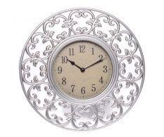 Nástěnné hodiny White Swirls