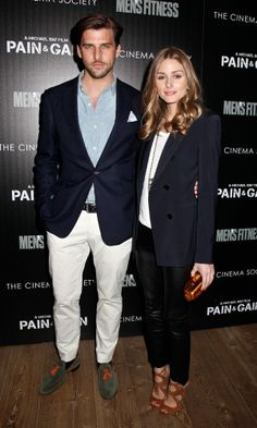 Olivia Palermo and Johannes Huebl at film screening