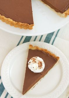 Chocolate Mascarpone Tart is a simple and delicious dessert that's absolutely lovely! - Bake or Break