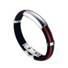 Silicone Bracelet 21cm for Men & Women