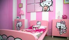 Hello Kitty bedroom ideas, Hello Kitty bedroom decoration ideas, Hello Kitty bedroom design
