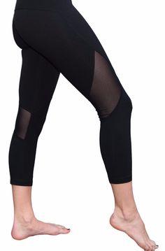 Mesh Capri Yoga Pants